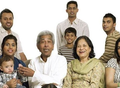South Asian family